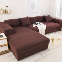 geometric elastic sofa cover for living room modern sectional corner sofa slipcover couch cover chair protector 1 2 3 4 seater Solid Color Elastic Sofa Cover Spandex Modern Polyester Corner Sofa Couch Slipcover Chair Protector Living Room 1/2/3/4 Seater