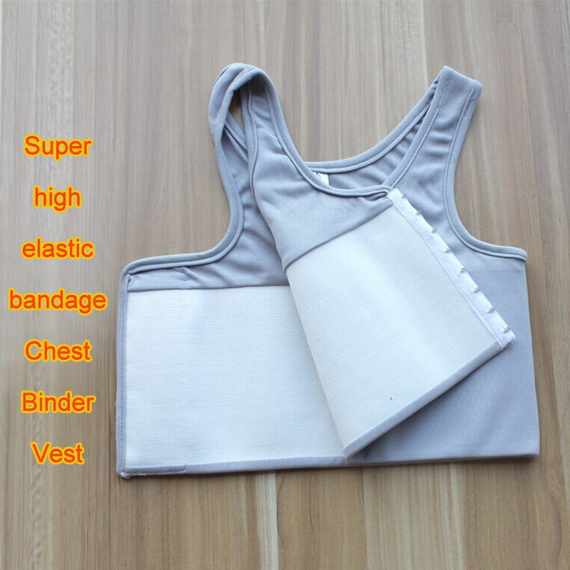 Upgraded Chest Binder tomboy Breast Crop Top Bralette Waist Corsets Buckle Lesbian women Chest Binder Tank Top Tomboy Bandage