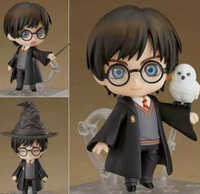 QPosket Cute Big eyes Harri Potter Vinyl Figure Model Toys 10cm anime figure Finished Goods Model Manual Face changing