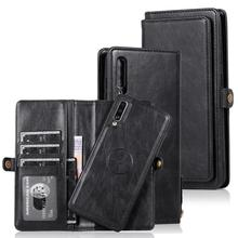Phone Case for Samsung Galaxy A70 Vintage Leather Wallet Case Magnetic Closure Folio Cover for Samsung A51 A71 A40 Note 20 Ultra