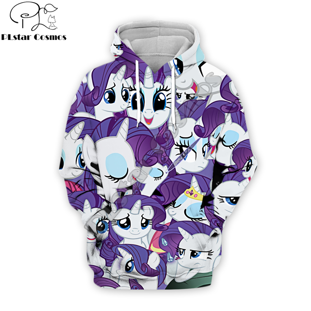 Anime Harajuku Hoodies My Little Pony 3D All Over Printed Men&Women Cosplay Streetwear Sweatshirt/Hoodie Sudadera Hombre
