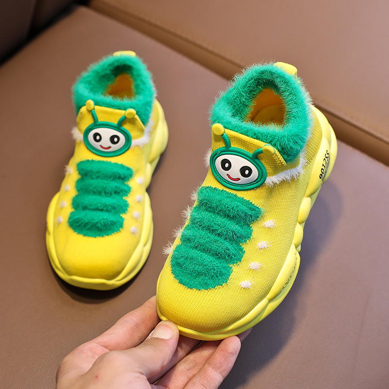 New Kids Sock Shoes For Girl Winter Warm Baby Boy Sneakers Pink Toddler Girl Shoes Light Baby Shoes Yellow Running Shoe Toddler