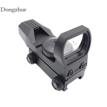 20mm Rail Riflescope Hunting Optics Holographic Green Dot Sight Reflex 4 Reticle Tactical Scope Collimator Sight Plastic Toy(China)