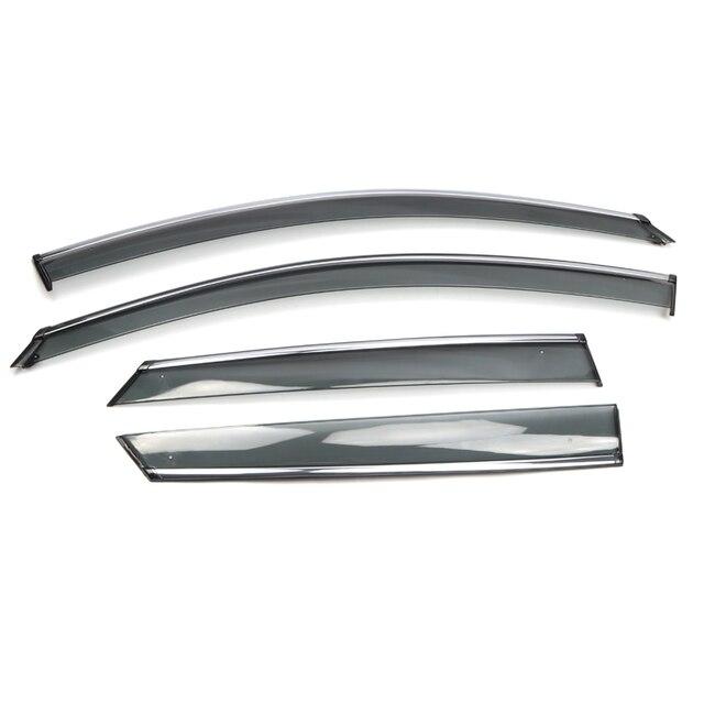 Abs viseiras da janela vento chuva sun defletor viseira guarda ventilação capa para peugeot 3008 3008 gt estilo do carro acessórios 2017 2019 2020