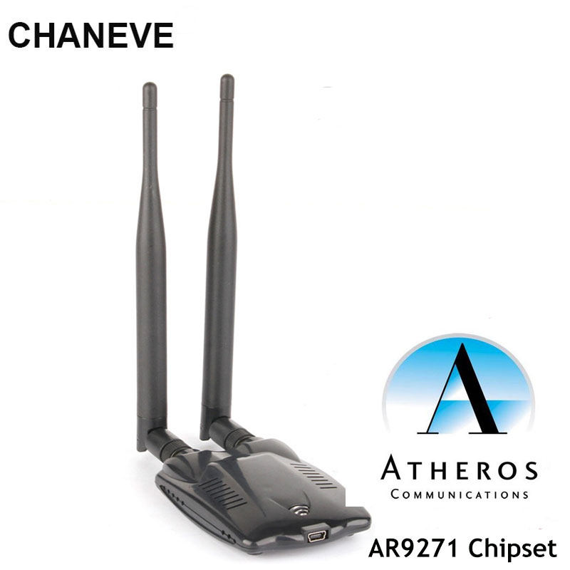 CHANEVE Atheros AR9271 Chipset 150Mbps Wireless USB WiFi Adapter 802.11n Network Card With 2 Antenna For Windows/8/10/Kali Linux(China)