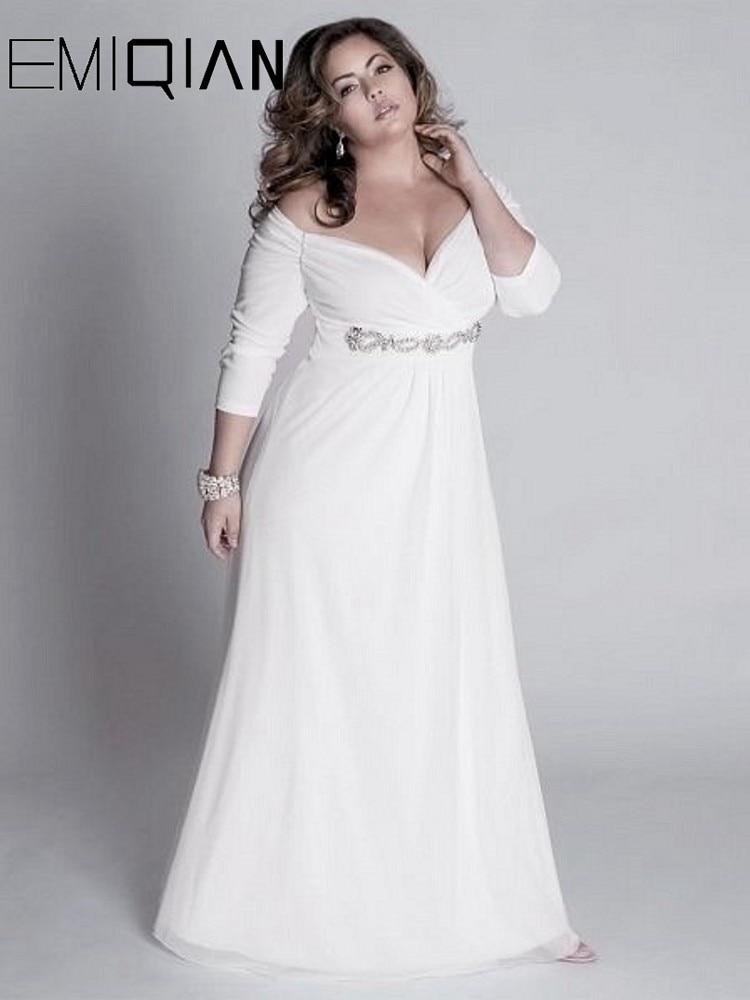 Plus Size Wedding Dress Simple A Line