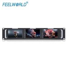 "FEELWORLD T51 לשלושה 5 ""2RU 800X480 שידור LCD מתלה הר צג עם 3G SDI, HDMI, AV קלט ופלט"