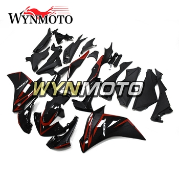 Kit de carenado completo de plástico ABS para Honda CBR250R 2011 2012 2013 2014 cbr250r 211 12 13 14 carrocería de motocicleta brillante Negro rojo nuevo
