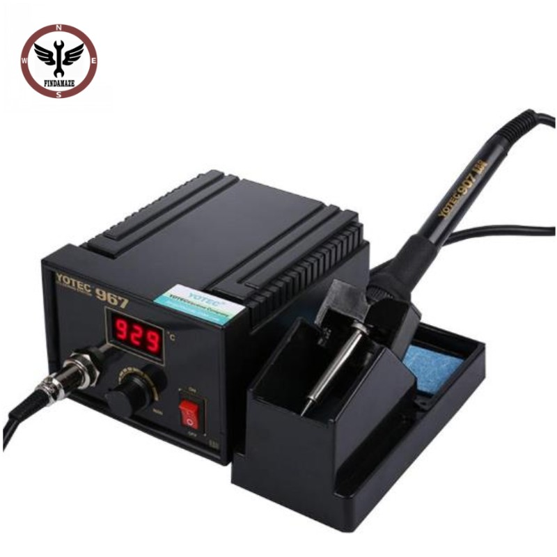 FINDAMAZE 110-265V 967 Power Electric Soldering Station SMD Rework Welding Iron Holder Set
