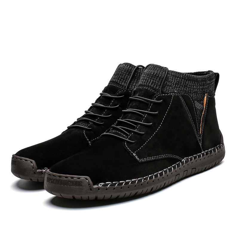 Black casual shoes boots