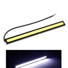 1 шт. 17 см универсальные дневные ходовые светильник фары для автомобилей COB DRL Светодиодные ленты внешнее освещение светильник s Авто Водонеп...
