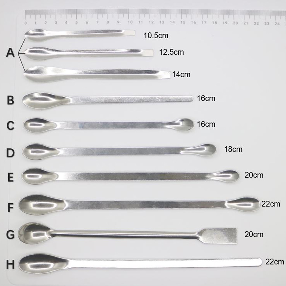 Dental Lab Stainless Steel Horn Round Medicinal Spoon Ladle Spatula Home Household Handy Tools For Chemistry Experiment Pharmacy