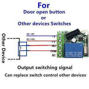 Image 5 - 433 Mhz אוניברסלי אלחוטי מרחוק מתג DC 12V 1CH ממסר מקלט מודול 4 חתיכות RF משדר 433 Mhz שלט רחוק