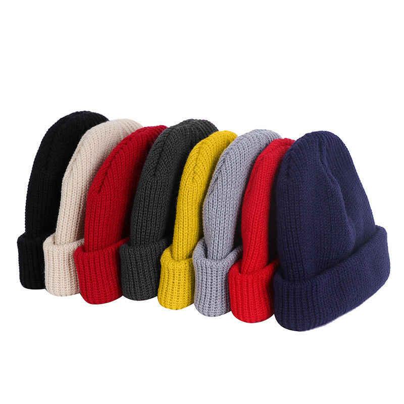 ユニセックス男性女性ビーニー帽子暖かいリブ冬スキー漁師ドッカー帽子