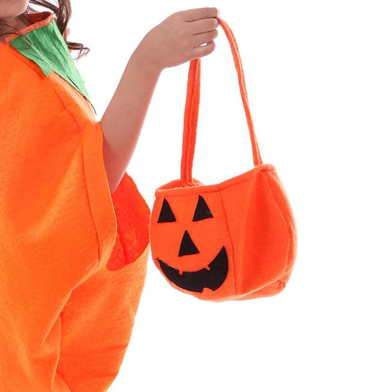 Children Baby Kids Halloween Pumpkin Candy Bag Portable Personality Cospley Prop Handbag Gift Bag Holiday Supplies
