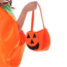 Children Baby Kids Halloween Pumpkin Candy Bag Portable Personality Cospley Prop