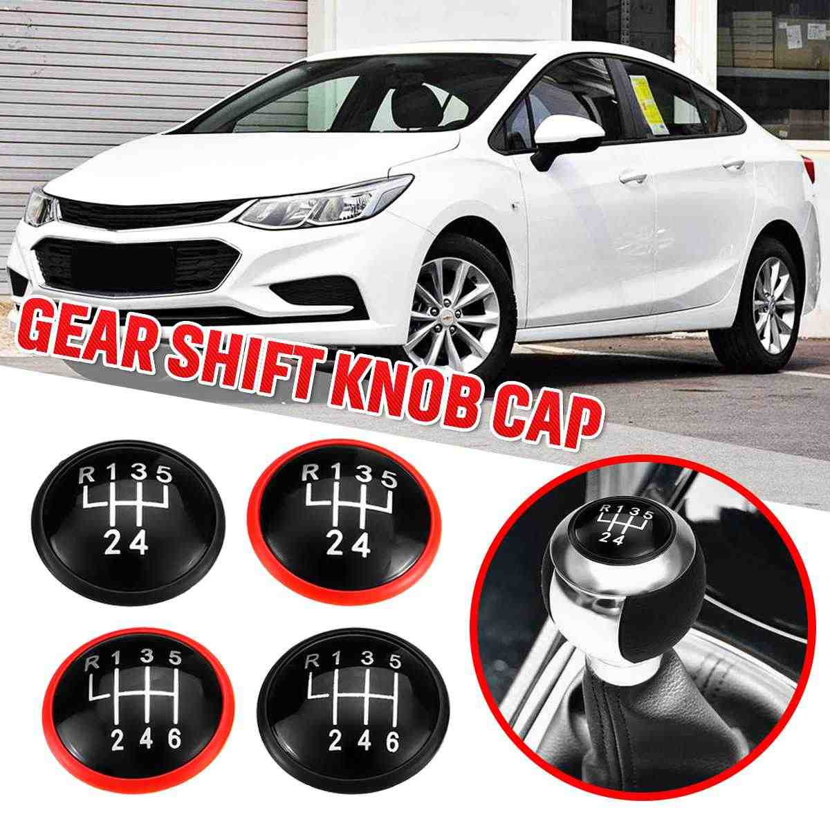 5/6 Speed Pookknop Cap Cover Lever Shifter Knop Top Caps Voor VW MK3 MK4 Golf/Jetta GTI bora voor Seat Ibiza Caddy