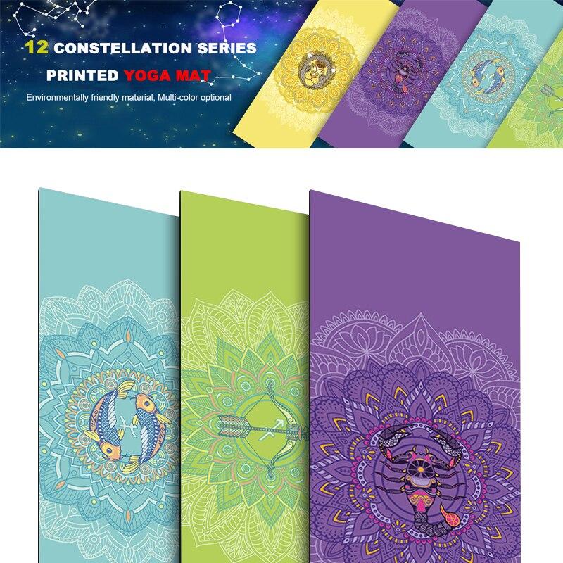 173*61cm Fitness Yoga Mat Pad 6mm PVC Beginner Dance Esterilla Yoga Pilates Exercise Mat Yoga Bag