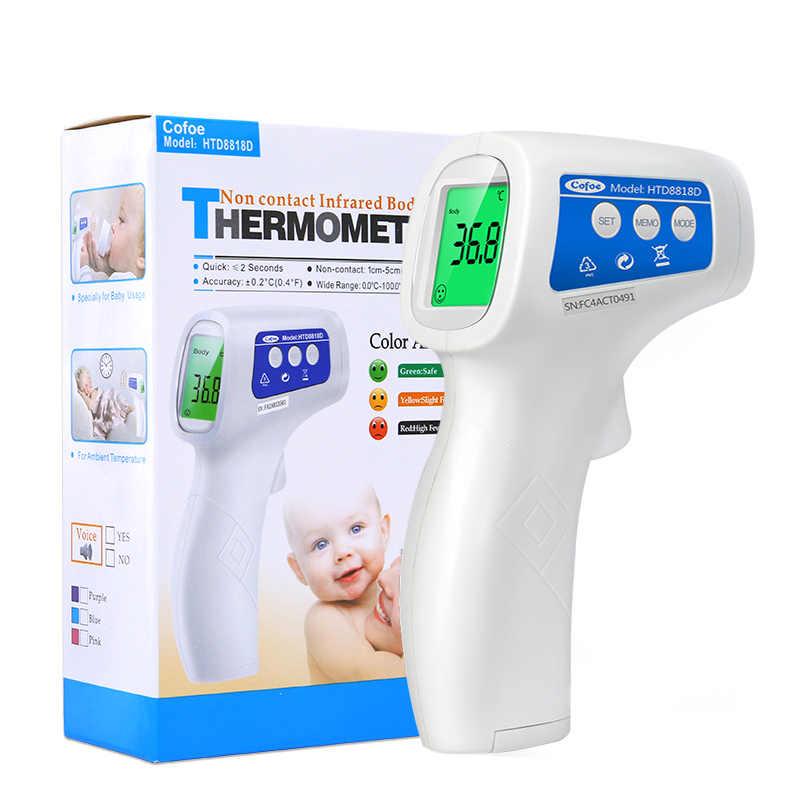 Narzędzia device Cofoe dziecko termometr czołowy na podczerwień nie-skontaktuj się z cyfrowy gorączka termometr lcd wyświetlacz korpus/pomiar temperatury obiektu