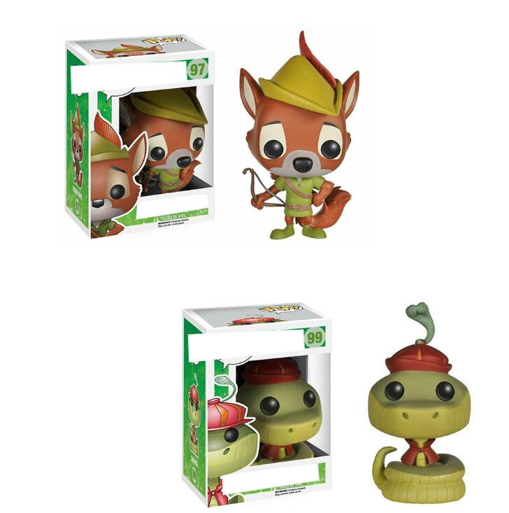 Funko Pop Robin Hood - Sir Hiss ROBIN HOOD#97#99 Vinyl Action Figures Collection Model Toys For Children Birthday Gift