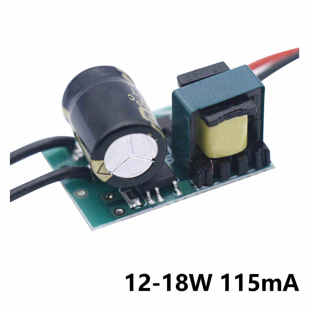 LED Non isolé pilote 3-7w 7-9w 9-12w 12-18w 115mA 20 V-148 V alimentation LED alimentation AC175-265V transformateurs d'éclairage pour LED ampoule SMD