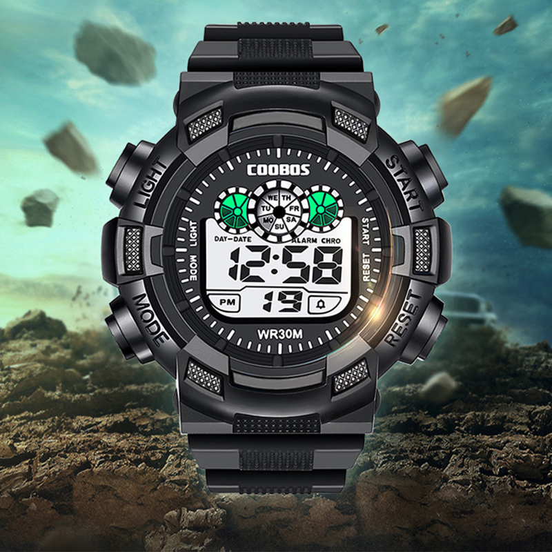 Sports Kids Digital Watch LED Waterproof Watch For Children 2019 New Boys Girls WristWatches Shockresistant Calendar Alarm Clock
