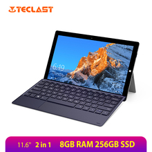 Teclast X4 2 in 1 Tablet PC 11.6'' IPS 1920*1080 Windows10 OS Intel Gemini Lake Celeron N4100 Quad Core 8GB RAM 256GB SSD Laptop huawei honor magicbook laptop 14 inch windows 10 intel core i5 8250u quad core 1 6ghz 8gb ram 256gb ssd 1920x1080 laptops