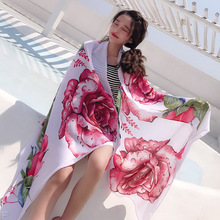 Soft 100% Natural Silk Scarf Women Luxury Brand Print Butterfly on Floral Pashmina Shawl Femme Long Bandana Bufanda Foulard New недорого