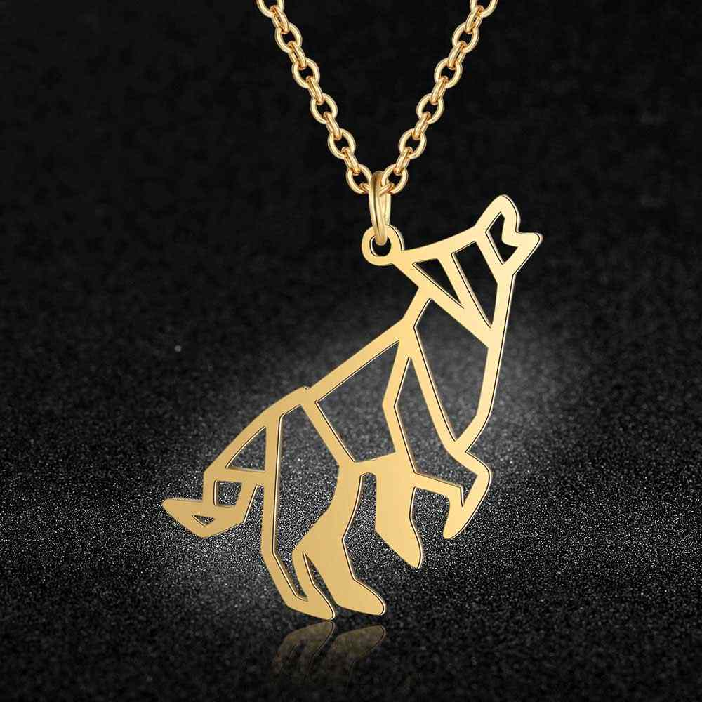 Unique Roaring Wolf Necklace LaVixMia Italy Design 100% Stainless Steel Necklaces for Women Super Fashion Jewelry Special Gift