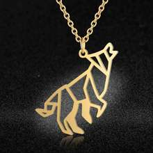 Unique Roaring Wolf Necklace LaVixMia Italy Design 100% Stainless Steel Necklaces for Women Super Fashion Jewelry Special Gift(China)