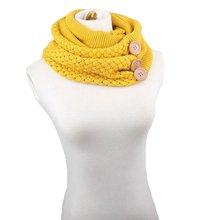 Теплый шарф кольцо вязаный уличный стиль теплый осенне зимний