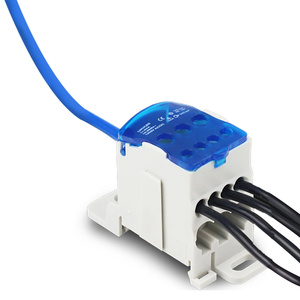 UKK-80A Distribution Box Din Rail Terminal Block 1 In Many Out Power Junction Box 80A Universal Electric Wire Connector(China)