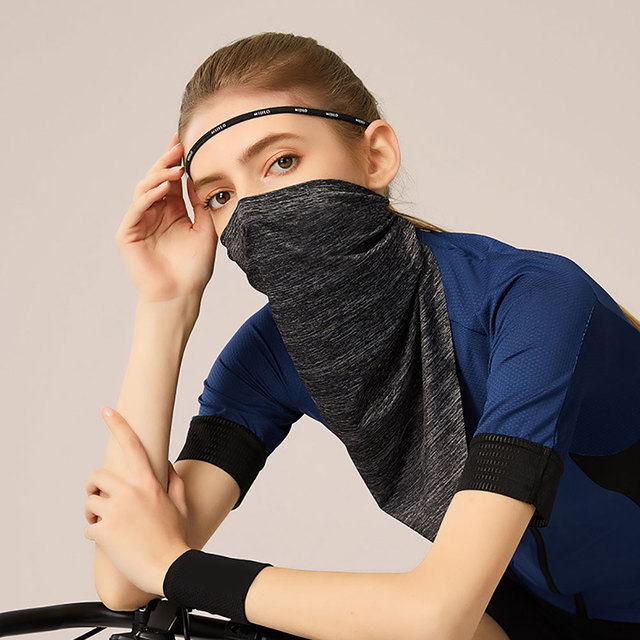Summer Breathable UV Sun Protection Triangle Scarf Outdoor Cycling Face Mask 2