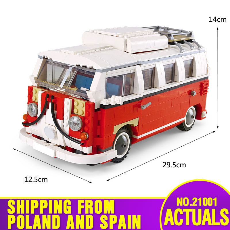 DHL 21001 Technic Series Classical Travel Car Model Building Blocks Bricks Educational Toys Compatible with 10220 Kids Car Toys-in Blocks from Toys & Hobbies    1