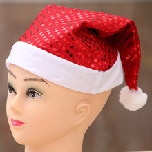 Christmas Hat red Cap Thick Ultra Soft Plush Cute Santa Claus Holiday Fancy Dress