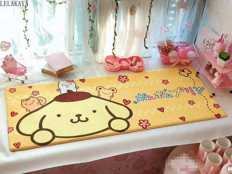 110*45cm My Melody Cinnamoroll Pudding Hund Little Twin Sterne Anime Teppich Weichen Teppich Cartoon Hause Schlafzimmer Boden matte Bad Fußmatte