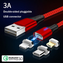 Newest Magnetic Micro USB Cable For iPhone Samsung Android Mobile Phone Charging USB Type C Cable Magnet Charger Wire Cord(China)