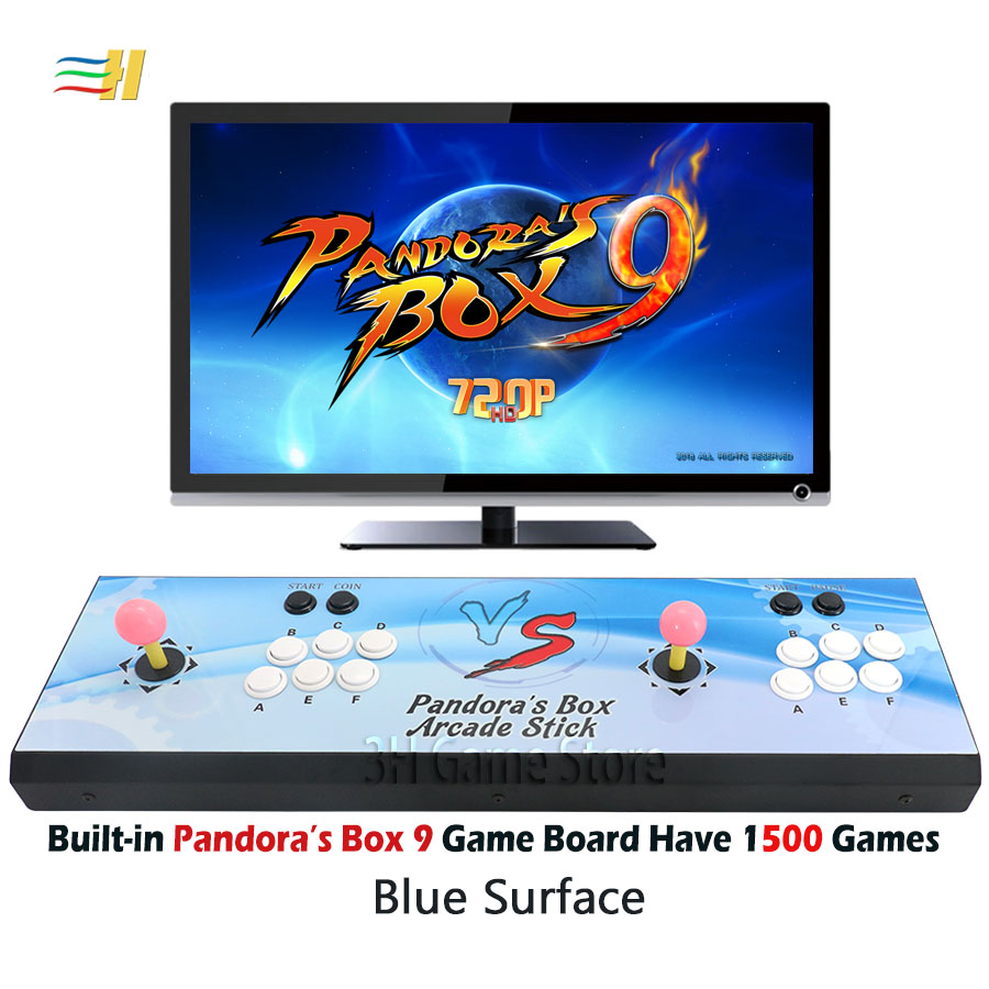 2 Players Pandora's Box 9 console Built in 1500 arcade games arcade console  coin operated games joystick for pc tv ps3 pc tv 5s
