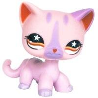 Лпс стоячки кошки Игрушки для кошек lps, редкие подставки, маленькие короткие волосы, котенок, розовый#2291, серый#5, черный#994,, коллекция фигурок для питомцев - Цвет: 933