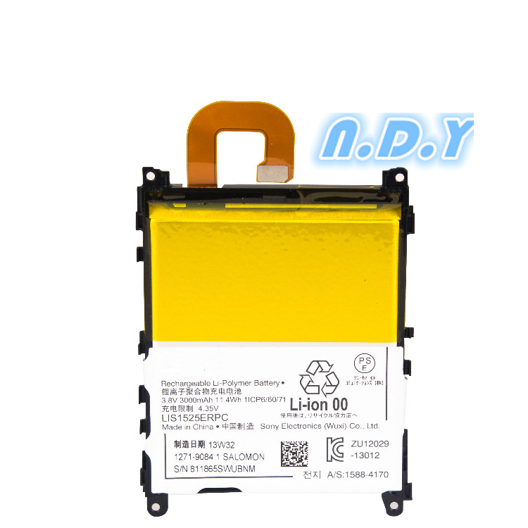 New 3000mAh LIS1525ERPC Replacement Battery For SONY Xperia Z1 L39H C6903 L39T L39U C6902 LIS1525ERPC Batteries