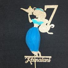 На заказ жасминовый торт на день рождения Топпер, Aladdins жасминовый торт Топпер, крещение крестины принцесса платье-пачка торт Топпер