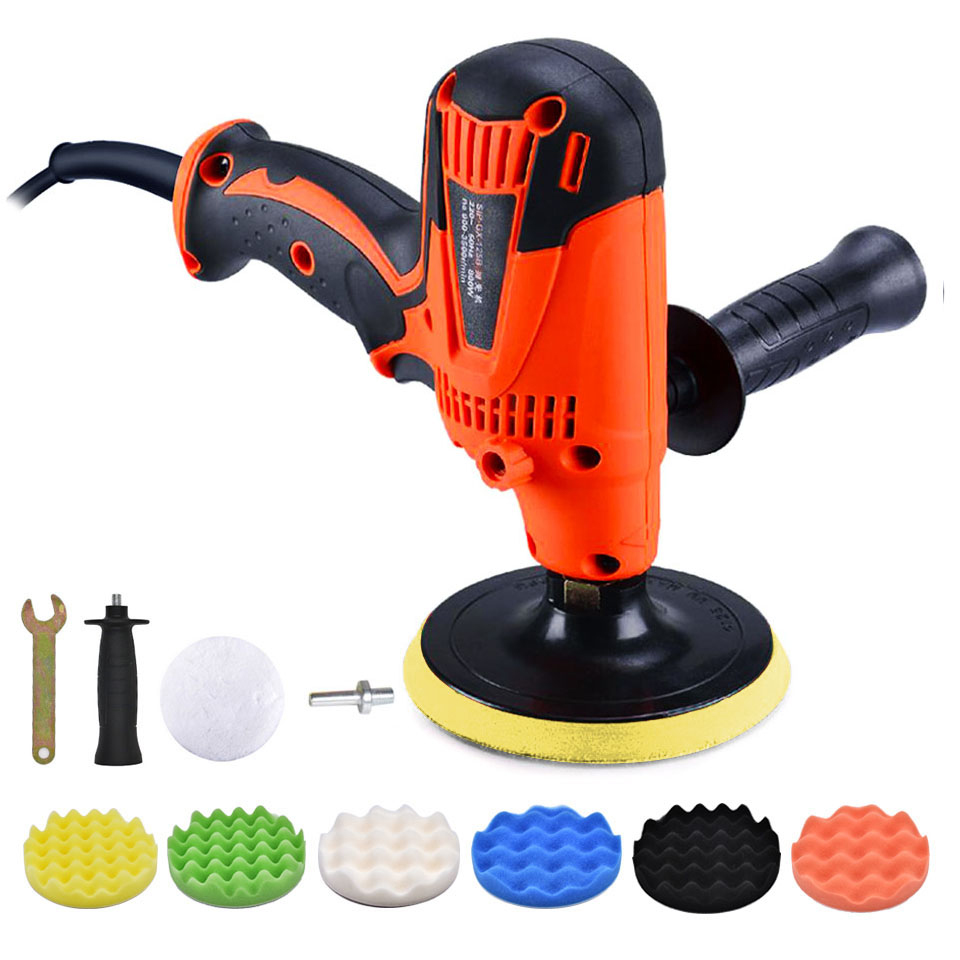 GOXAWEE Electric Polisher Machine Car Polisher Grinder 6 Speed Sanding Machine Waxing Coating And Cleaning Tools Car Accessories