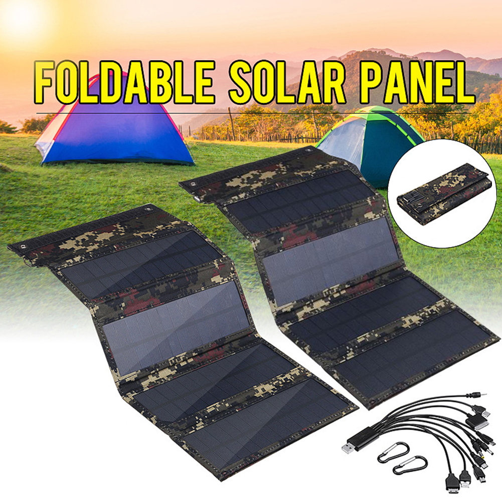 50W Portable Solar Panel 5V Folding Solar Cell Foldable Waterproof USB Port Charger Mobile Power Bank for Phone Battery Outdoor|Solar Panel|   - AliExpress
