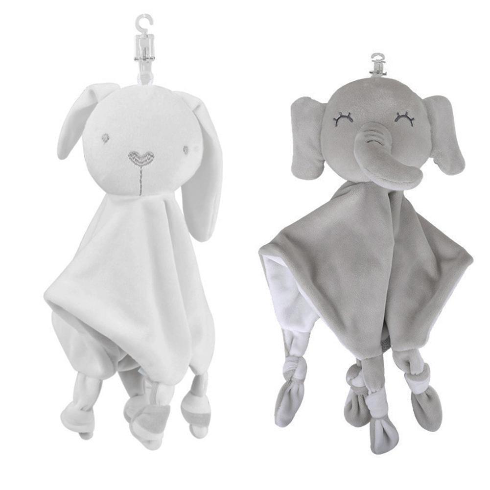 2020 Newborn Soft Baby Elephant Rabbit Toy Gift Baby Stuffed Plush Comfort Blanket