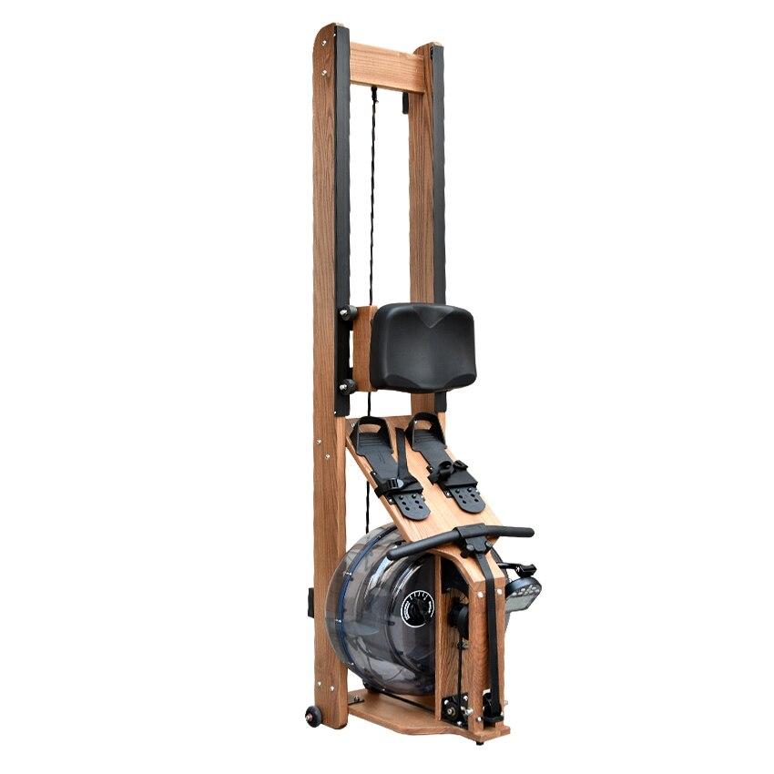 MR002 Machine de rangée de résistance à l'eau matériel en bois bras pectoraux abdominaux entraînement de remise en forme du corps aviron équipement de gymnastique à domicile intérieur - 4