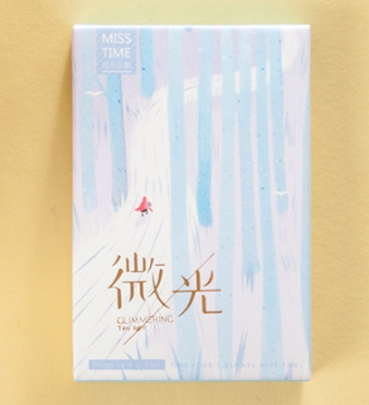 52mm*80mm Little Light Paper Greeting Card Lomo Card(1pack=28pieces)