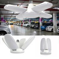 80W 8000lm LED lámpara de techo Deformable E27/E26 Lámpara de trabajo hogar jardín herramienta aparcamiento Industrial almacén cuatro hojas luz Led|Ventiladores de techo|Luces e iluminación -