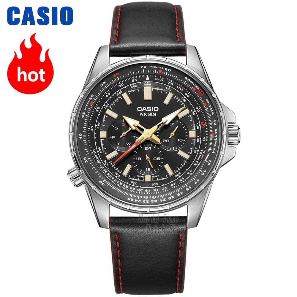Orologio Casio volo set quarzo della vigilanza degli uomini di top brand di lusso degli uomini della vigilanza 50m Impermeabile Sport militare Orologi uomini Luminosi orologio MTP-SW320L
