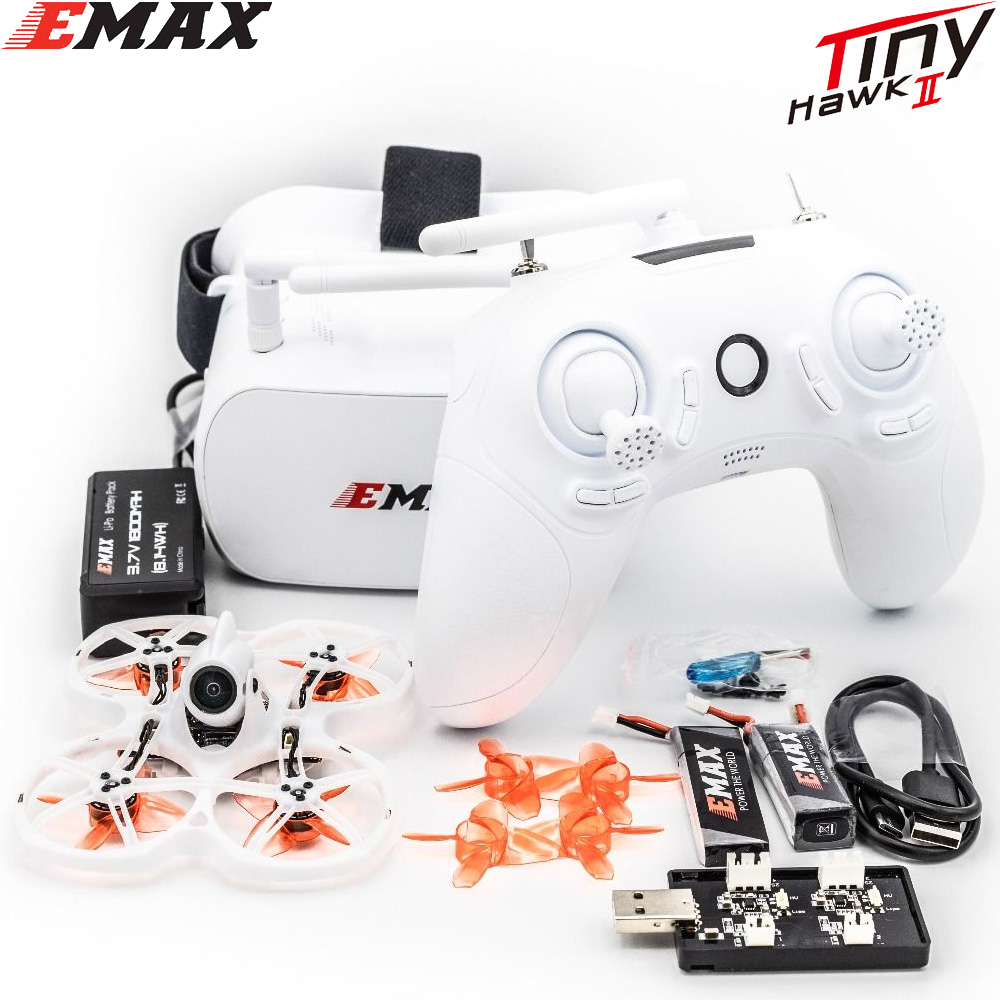 Tinyhawk S II ,Emax FPV Racing Drone with F4 FC,16000KV Motor,Support 1/2S Battery 5.8G FPV Glasses 1