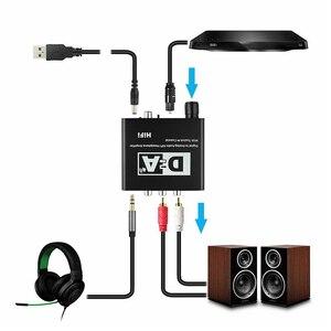 Image 2 - Convertisseur numérique vers analogique 24 bits 3.5 Jack RCA DAC Spdif amplificateur décodeur Fiber optique Coaxial pour casque avec bouton de Volume